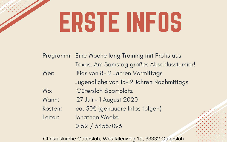 Baseball Camp 2020 in Gütersloh